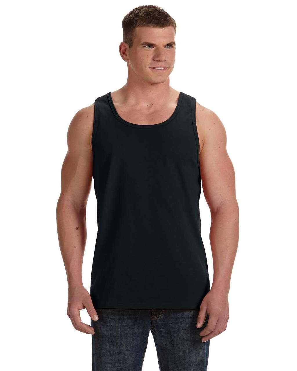 Black - 39TKR Fruit of the Loom 100% Heavy Cotton HD® Tank Top | Blankclothing.ca