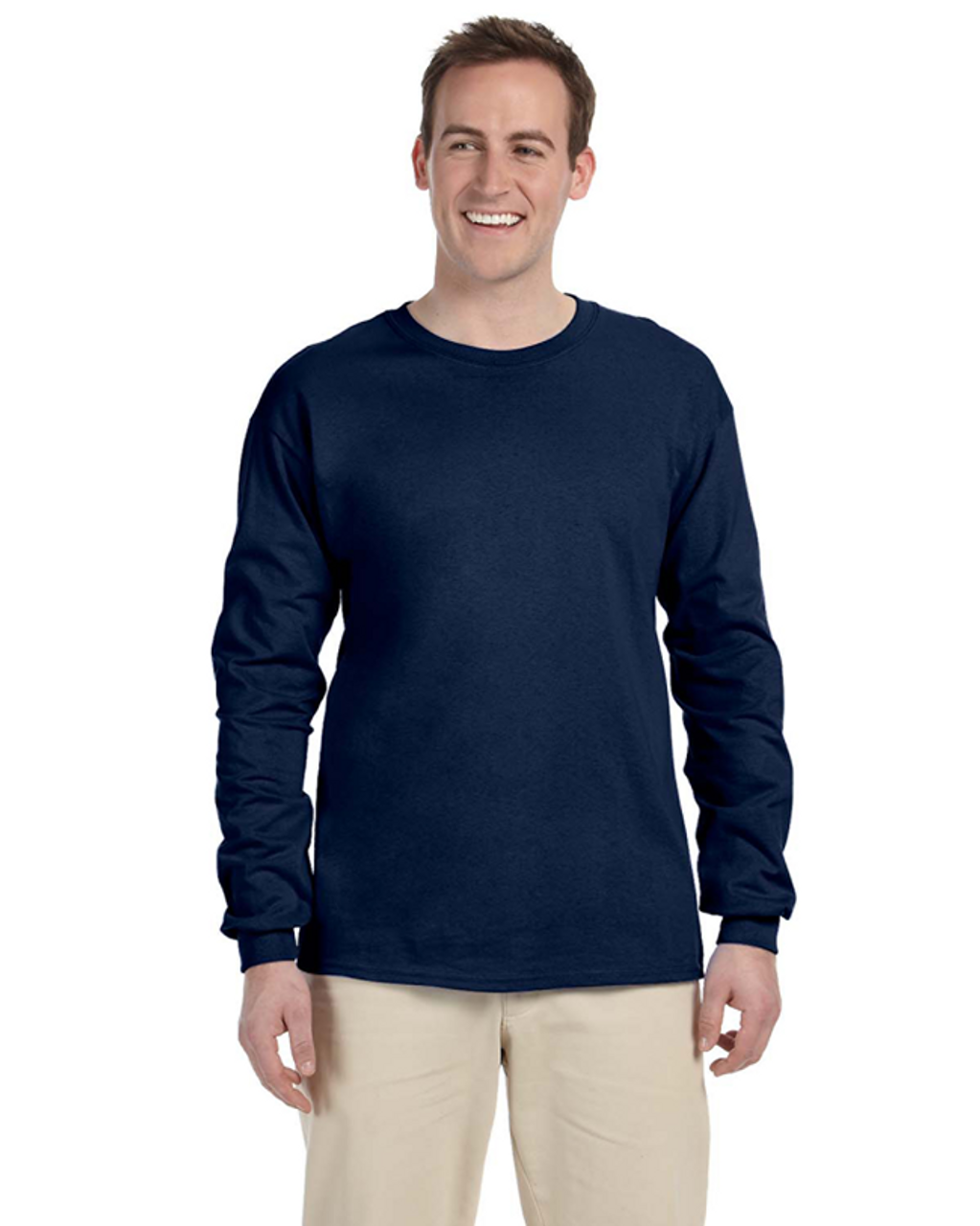 J. Navy - 4930 Fruit of the Loom 100% Heavy Cotton HD® Long-Sleeve T-Shirt | Blankclothing.ca