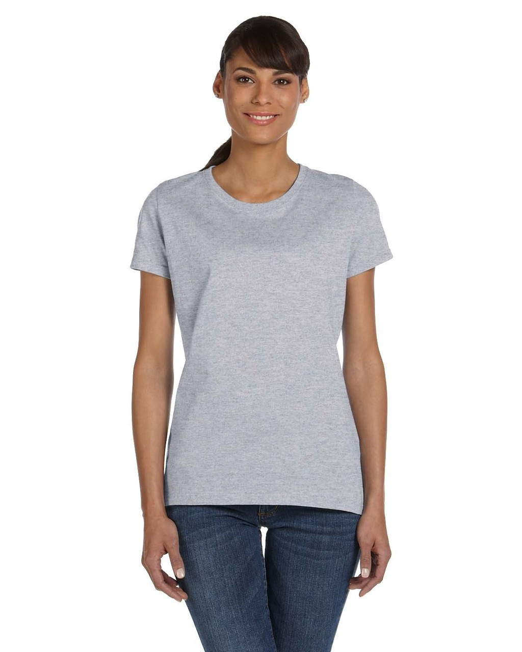 Athletic Heather - L3930R Fruit of the Loom Ladies' 100% Heavy Cotton HD® T-Shirt | Blankclothing.ca