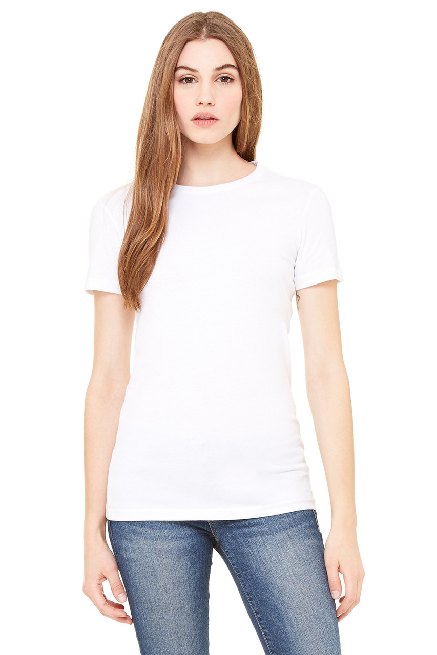 White - 6004 Bella+Canvas Ladies' The Favourite Tee | BlankClothing.ca