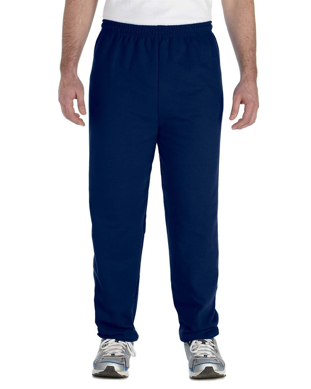 Navy - G182 Gildan Heavy Blend Sweatpants | Blankclothing.ca