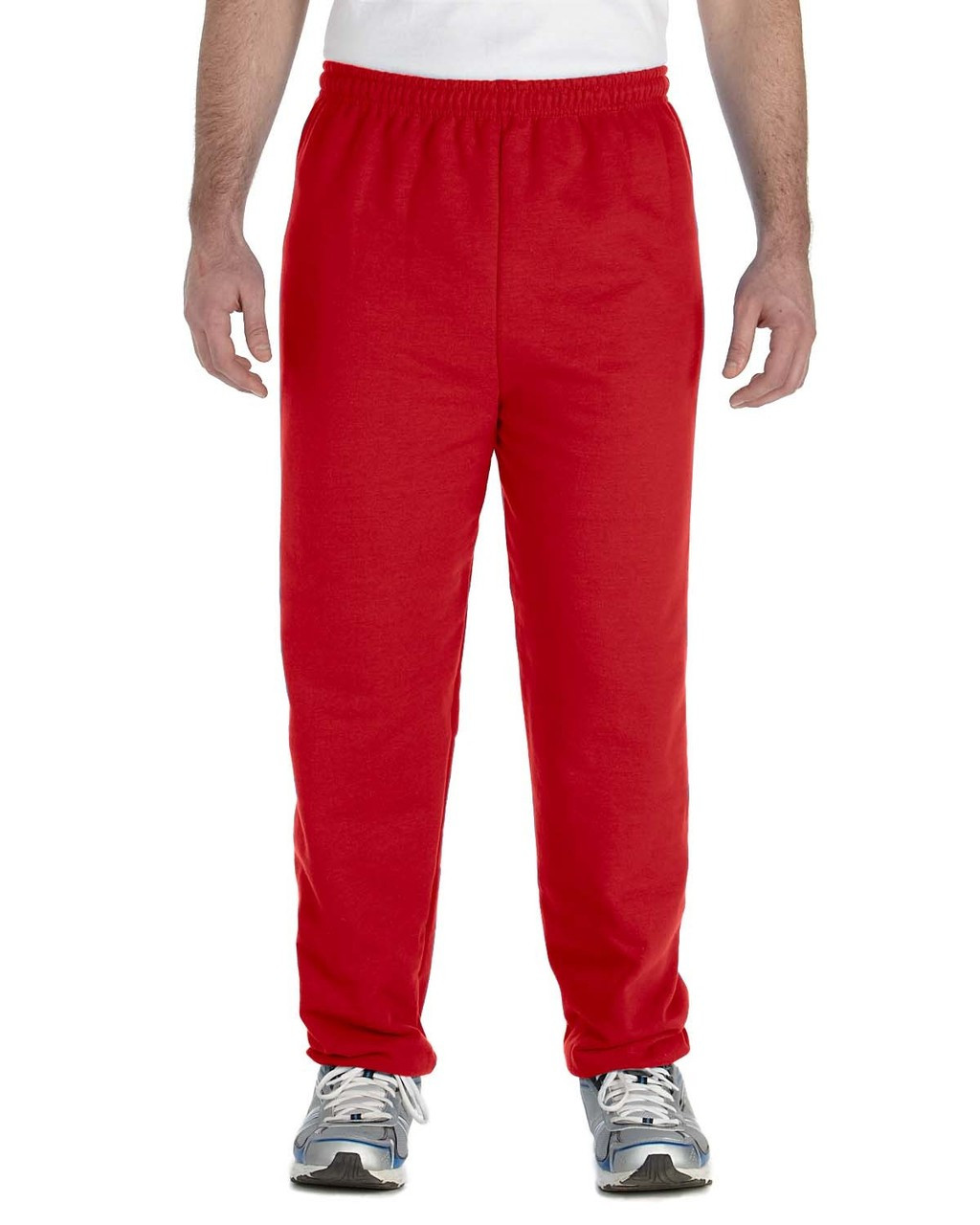 Red - G182 Gildan Heavy Blend Sweatpants | Blankclothing.ca