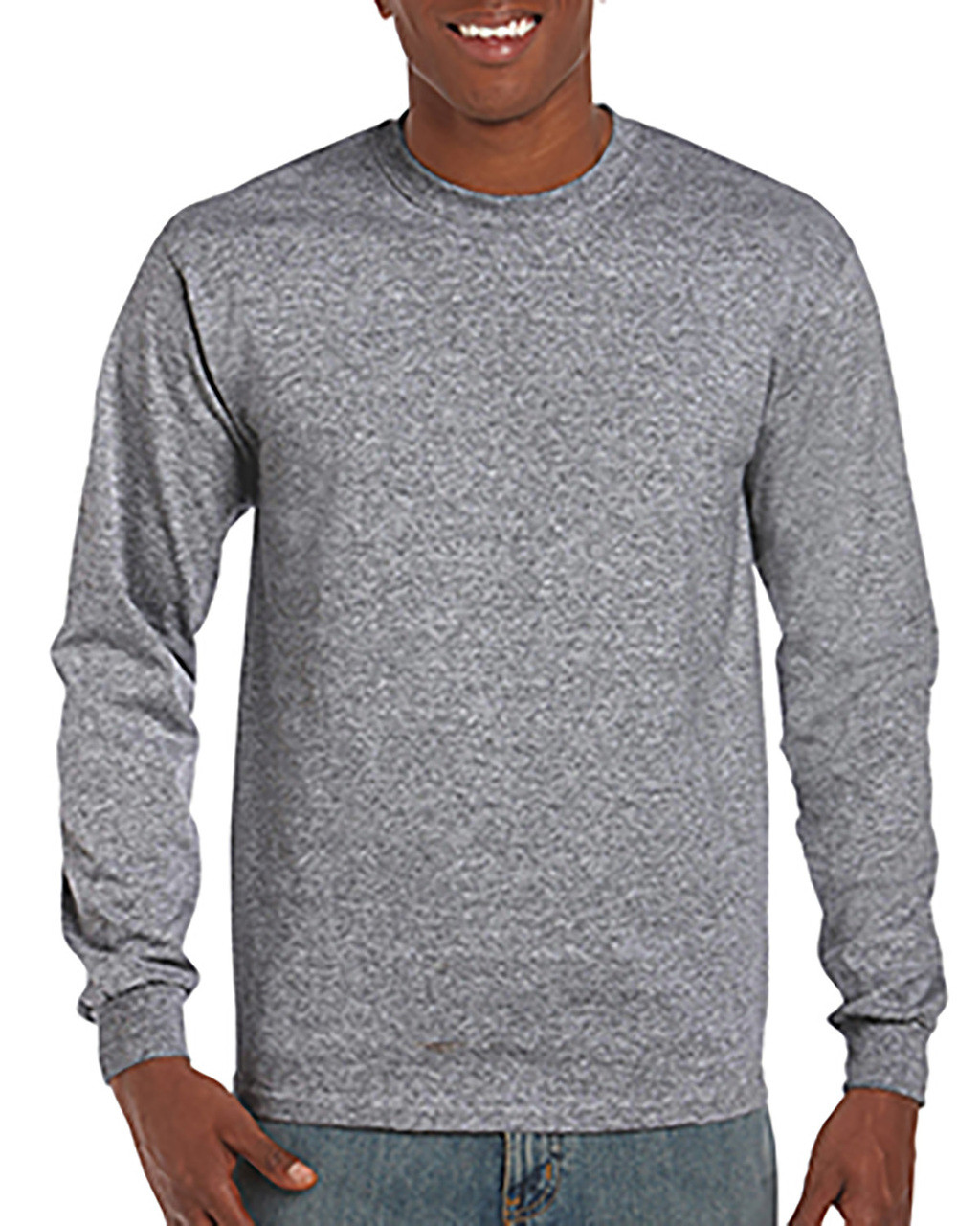 Graphite Heather - G840 DryBlend 50/50 Long Sleeve T-Shirt
