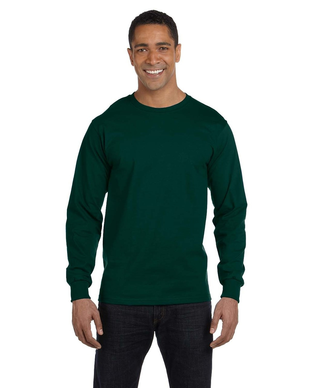 Forest Green - G840 Gildan DryBlend 50/50 Long Sleeve T-Shirt | Blankclothing.ca