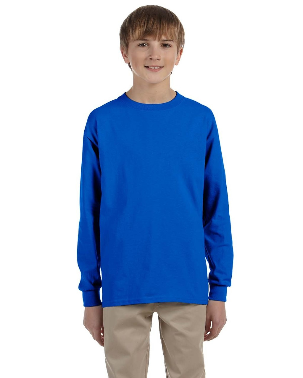Royal - G240B Ultra Cotton Youth Long Sleeve T-Shirt | Blankclothing.ca
