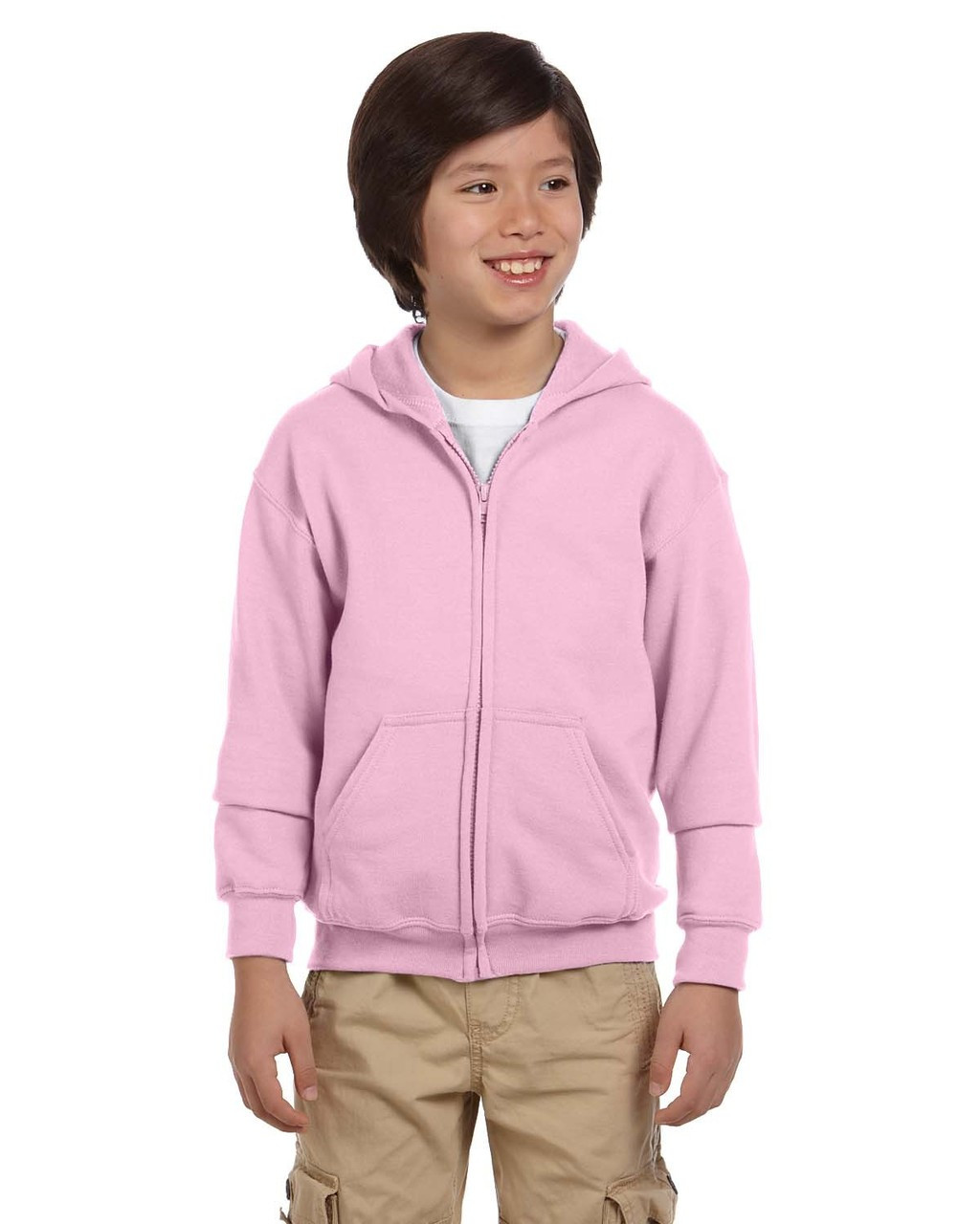 Light Pink  - G186B Gildan Heavy Blend Youth 50/50 Full Zip Hoodie | Blankclothing.ca