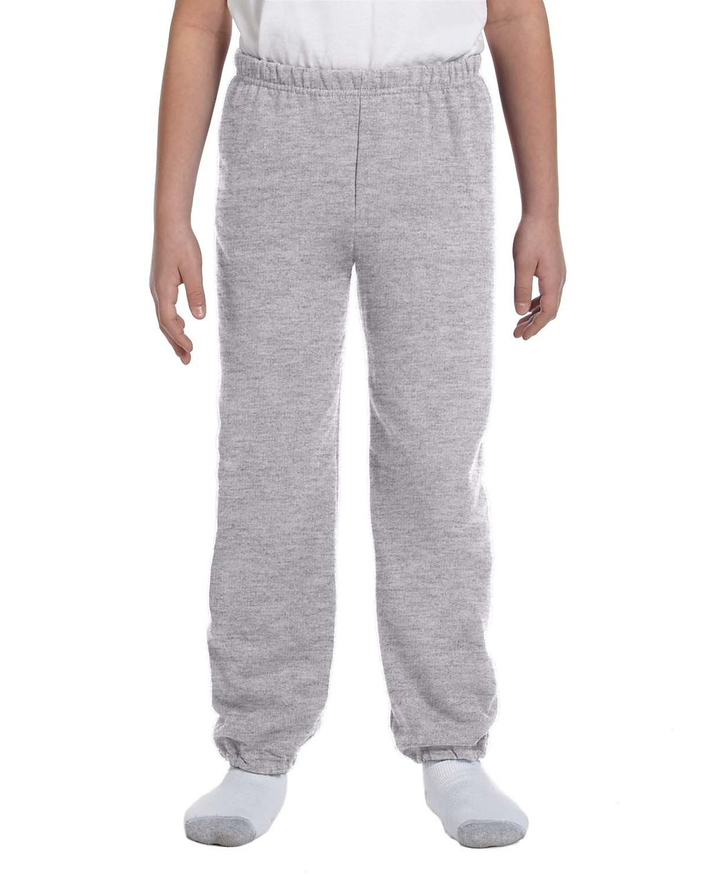 Sport Grey - G182B Gildan Heavy Blend Youth 50/50 Sweatpants | Blankclothing.ca