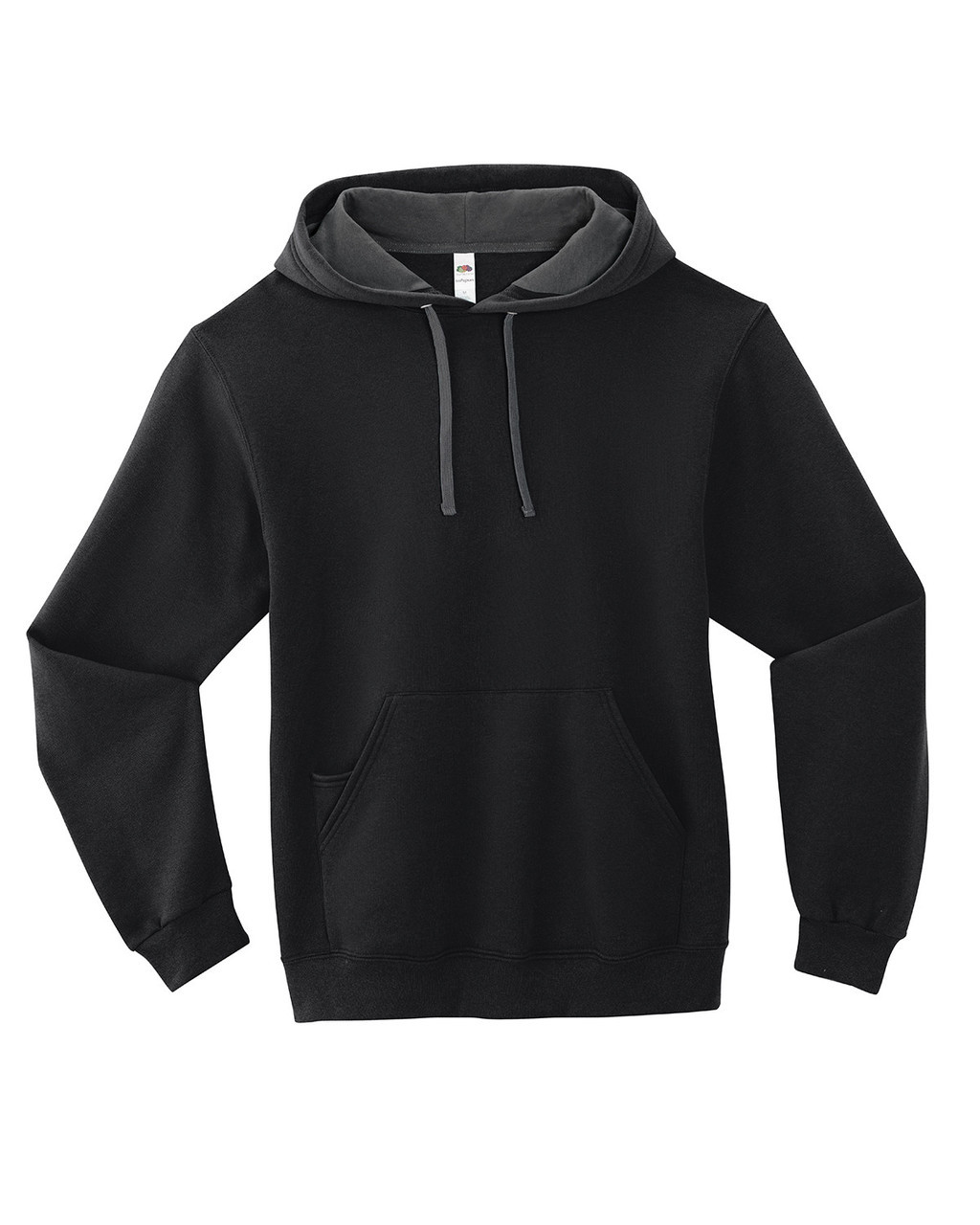 Black - SF76R Fruit of the Loom Softspun Hooded Sweatshirt | Blankclothing.ca
