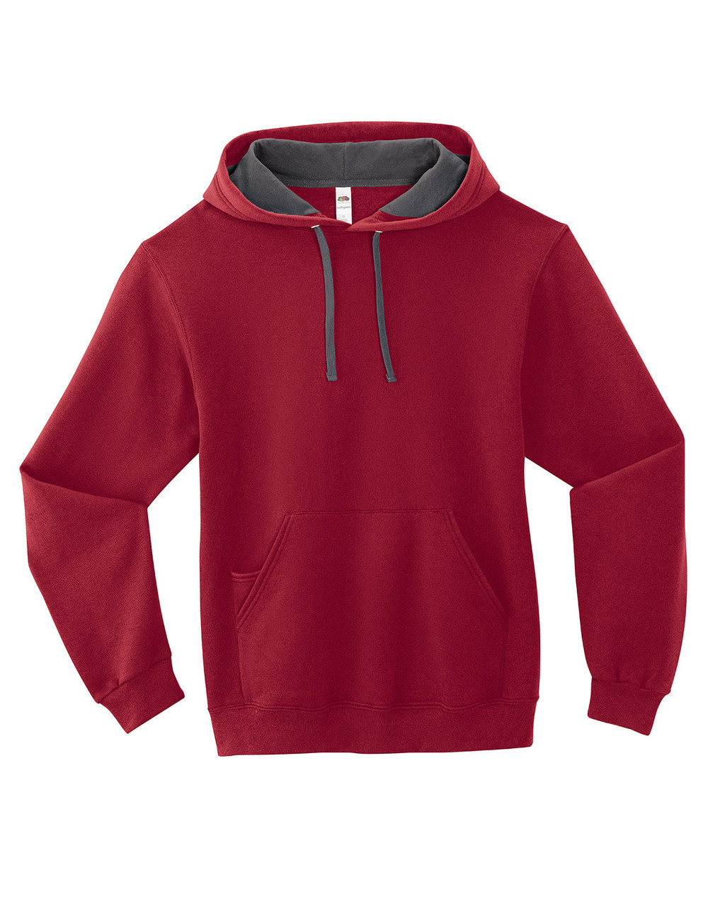 Cardinal - SF76R Fruit of the Loom Softspun Hooded Sweatshirt | Blankclothing.ca