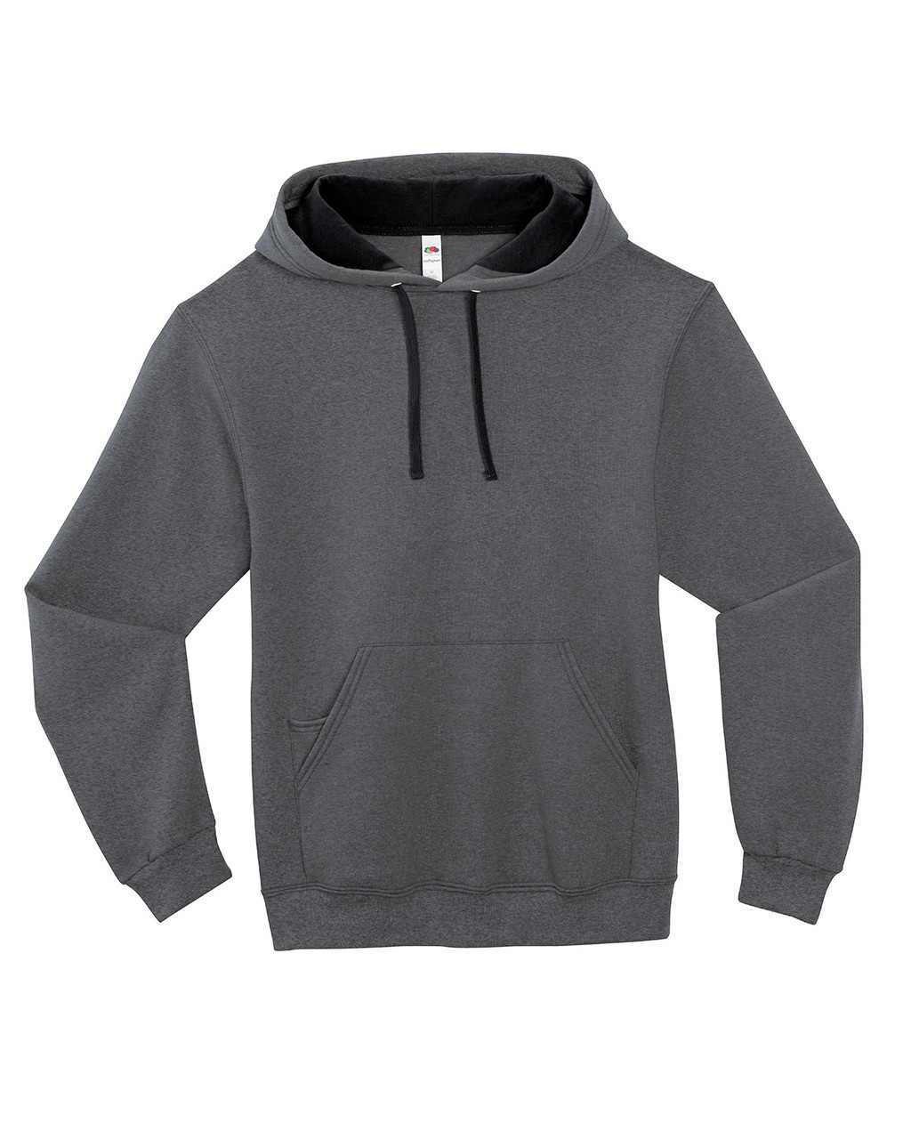 Charcoal Heather SF76R Fruit of the Loom Softspun Hooded Sweatshirt | Blankclothing.ca