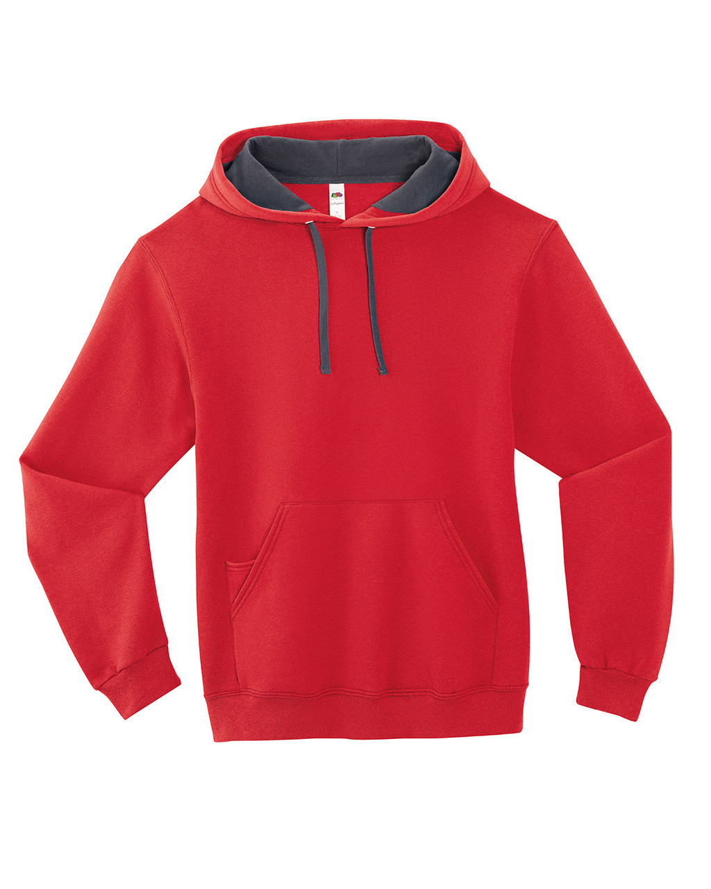 Fiery Red - SF76R Fruit of the Loom Softspun Hooded Sweatshirt | Blankclothing.ca