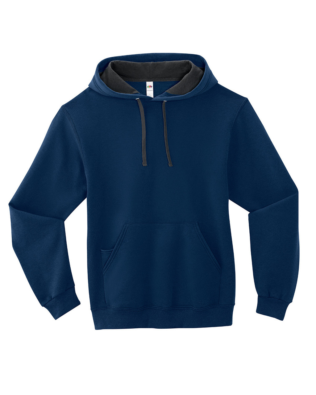 Navy - SF76R Fruit of the Loom Softspun Hooded Sweatshirt | Blankclothing.ca