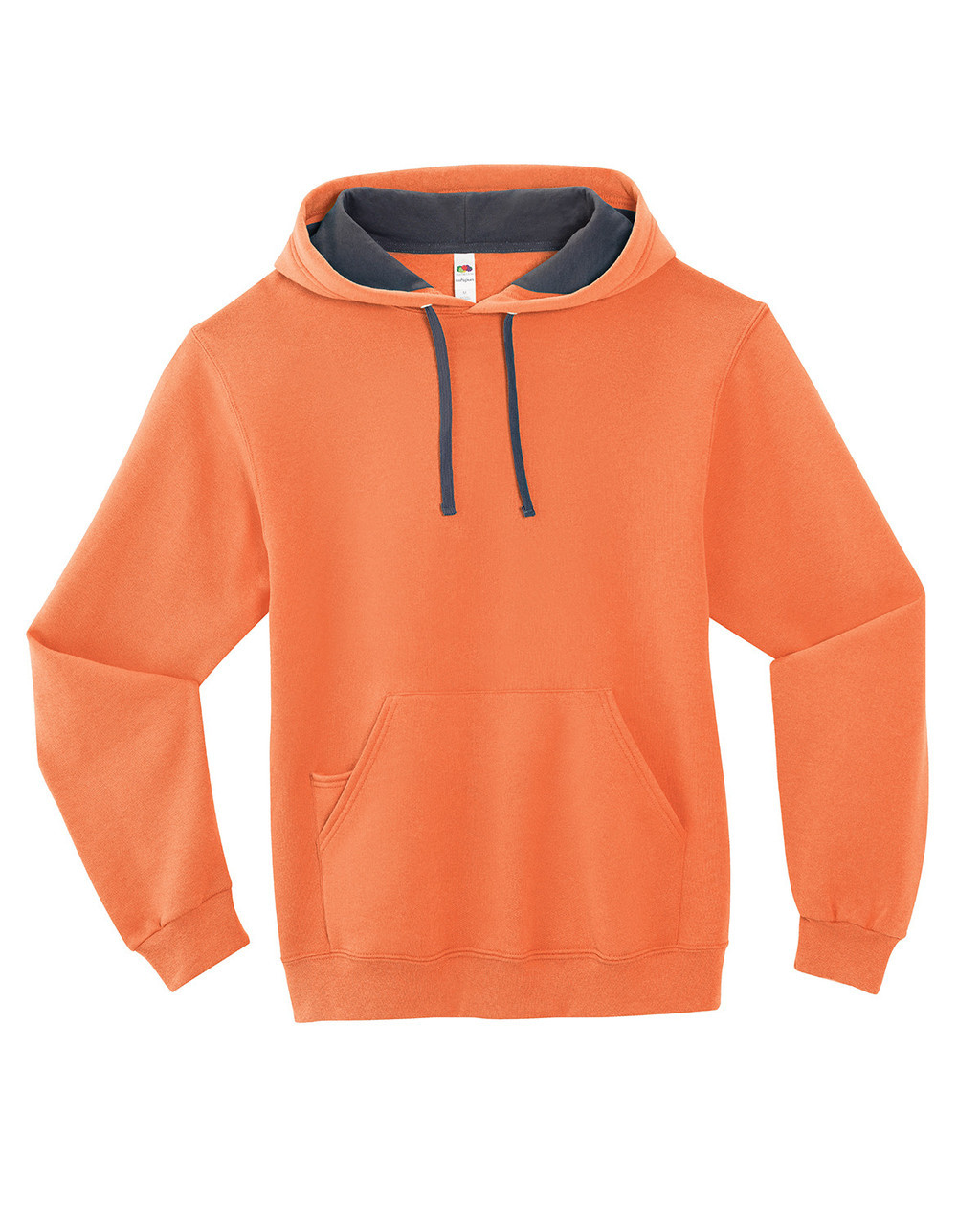 Orange Sherbert - SF76R Fruit of the Loom Softspun Hooded Sweatshirt | Blankclothing.ca