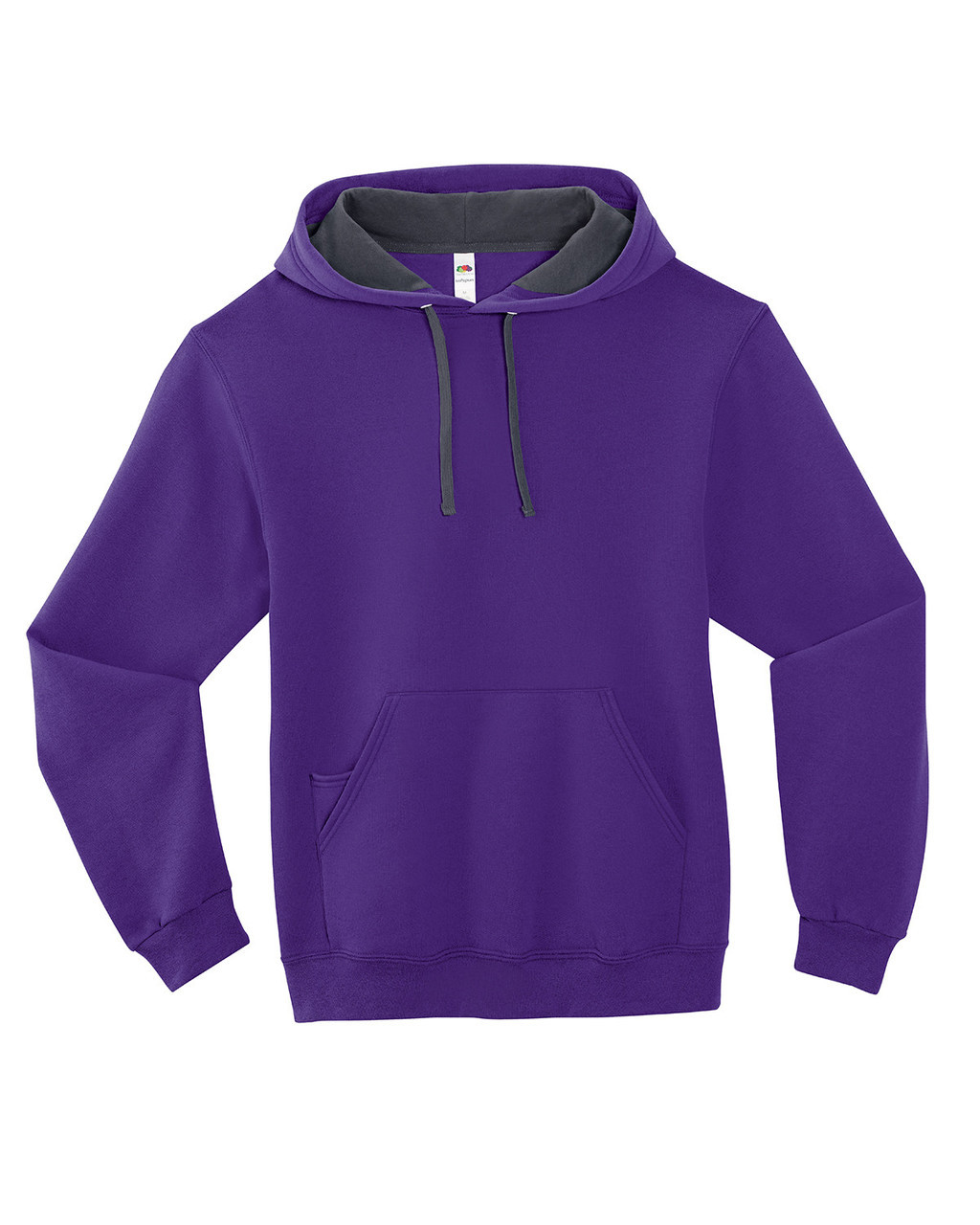 Purple - SF76R Fruit of the Loom Softspun Hooded Sweatshirt | Blankclothing.ca
