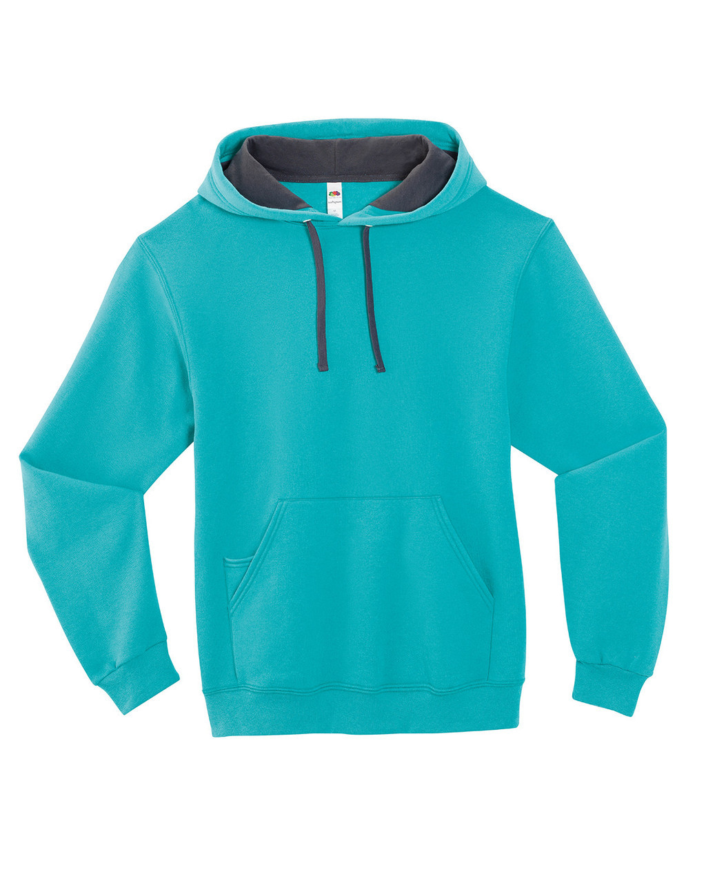 Scuba Blue - SF76R Fruit of the Loom Softspun Hooded Sweatshirt | Blankclothing.ca