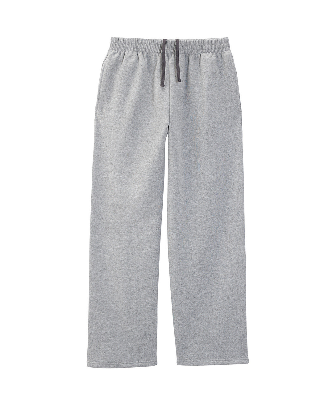 Athletic Heather SF74R Fruit of the Loom Softspun Open Bottom Pocket Sweatpants | Blankclothing.ca