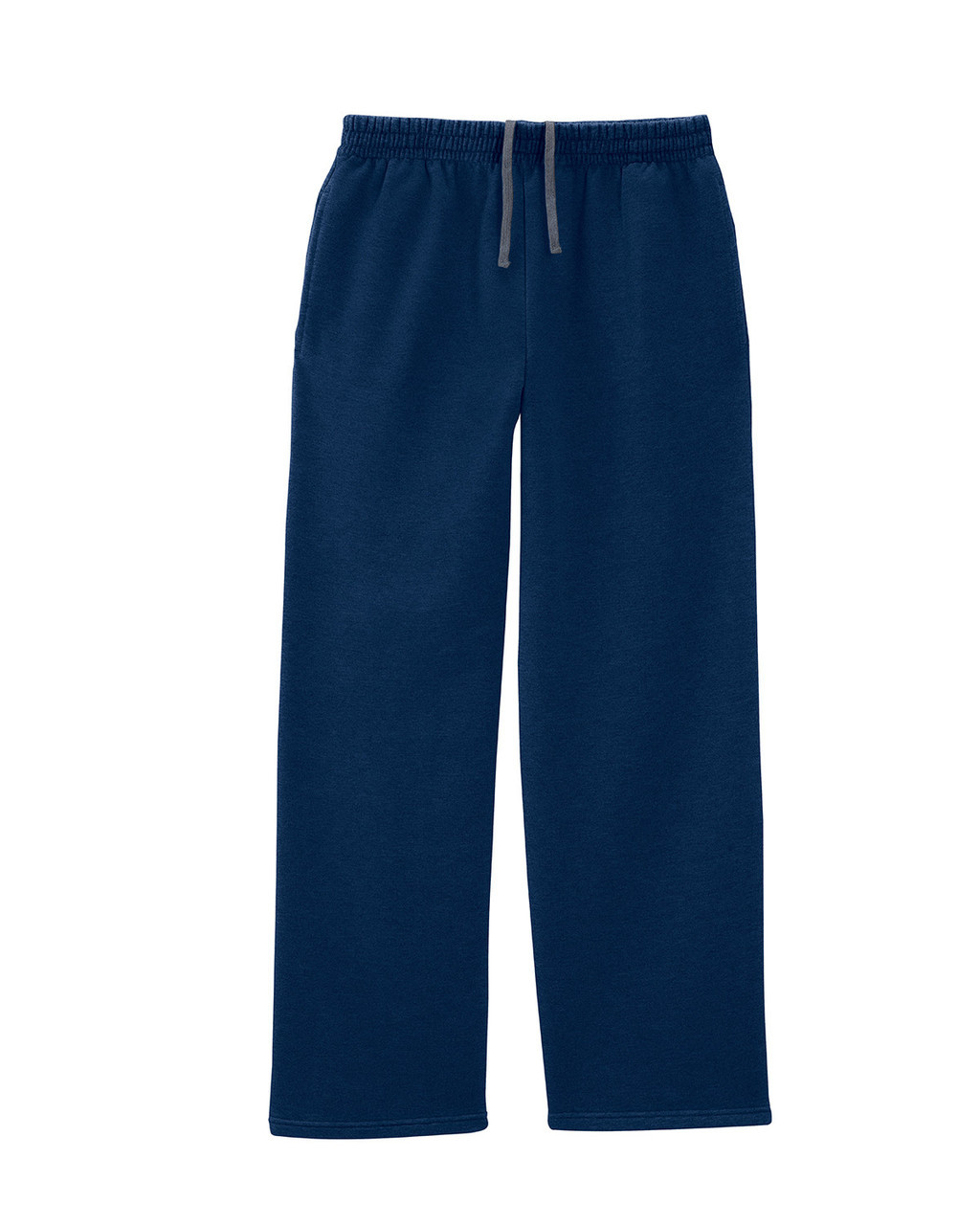 Navy SF74R Fruit of the Loom Softspun Open Bottom Pocket Sweatpants | Blankclothing.ca