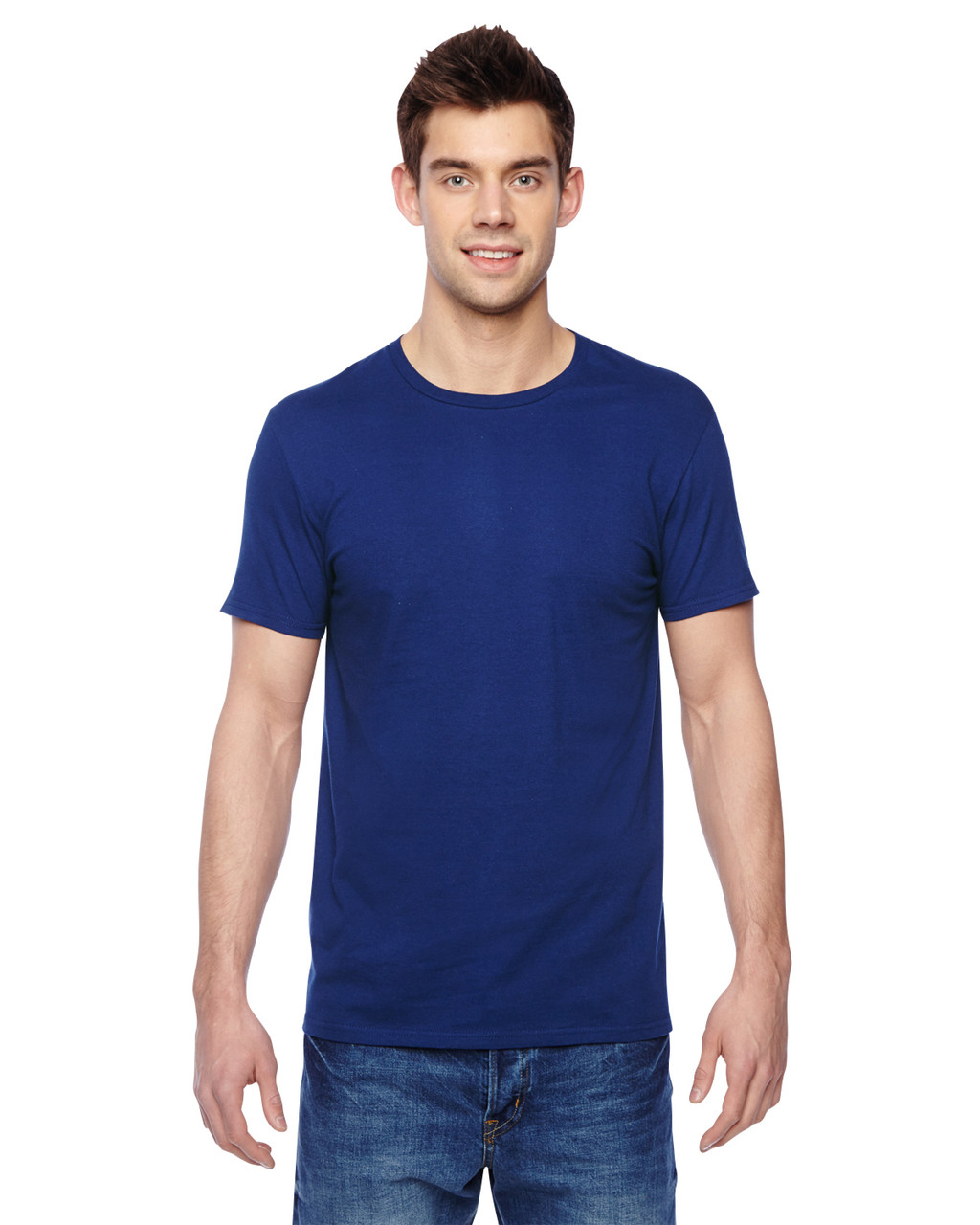 Admiral Blue - SF45R Fruit of the Loom Softspun Cotton T-Shirt | Blankclothing.ca