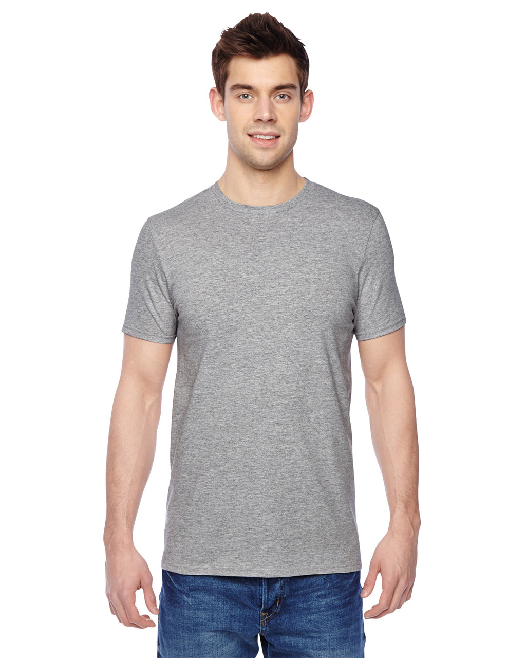 Athletic Heather - SF45R Fruit of the Loom Softspun Cotton T-Shirt | Blankclothing.ca