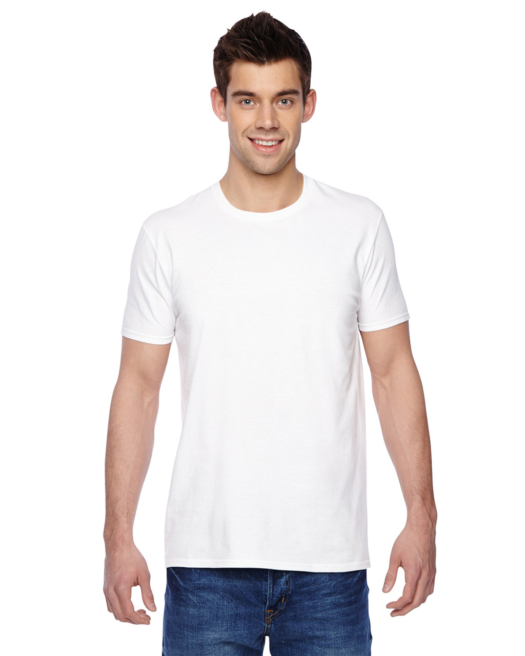 White - SF45R Fruit of the Loom Softspun Cotton T-Shirt | Blankclothing.ca