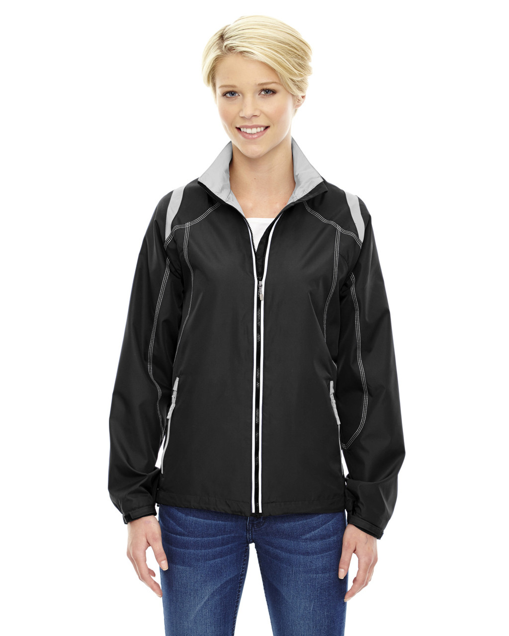 Black - 78076 North Ladies' Lightweight Colour-Block Jacket | Blankclothing.ca