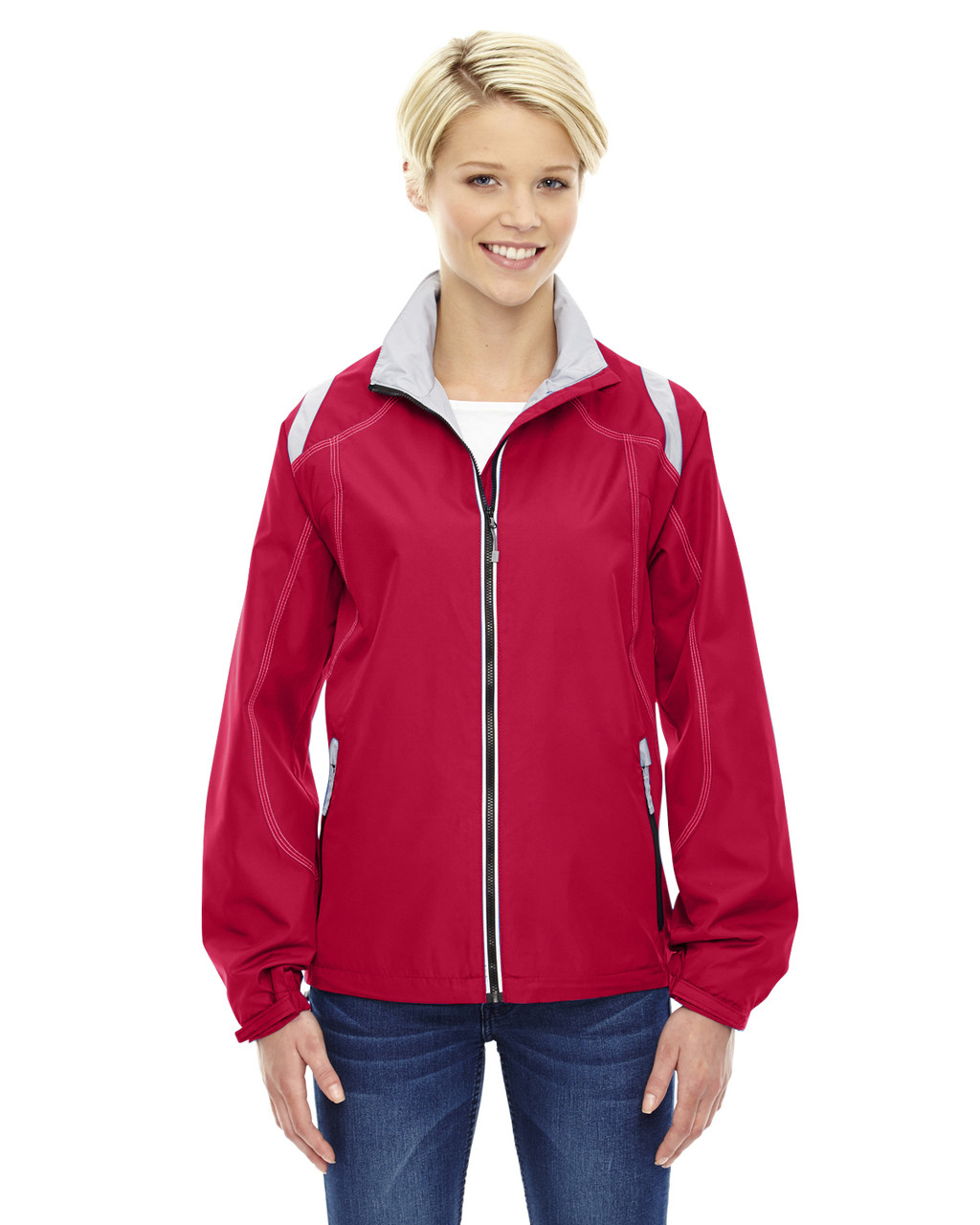 Olympic Red - 78076 North Ladies' Lightweight Colour-Block Jacket | Blankclothing.ca