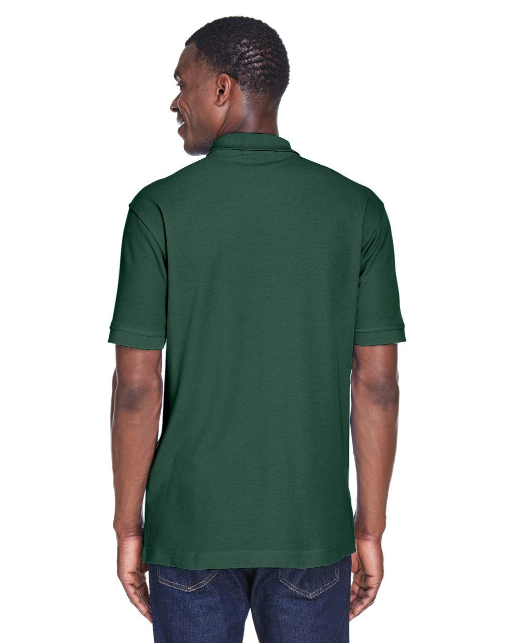 Hunter, Back - M280 Harriton Men's Blend-Tek Polo Shirt | BlankClothing.ca