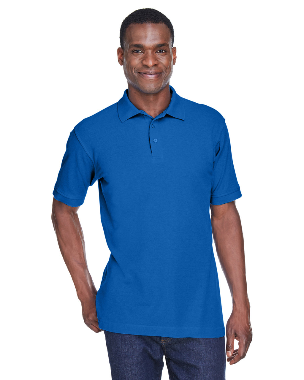 True Royal - M280 Harriton Men's Blend-Tek Polo Shirt | BlankClothing.ca