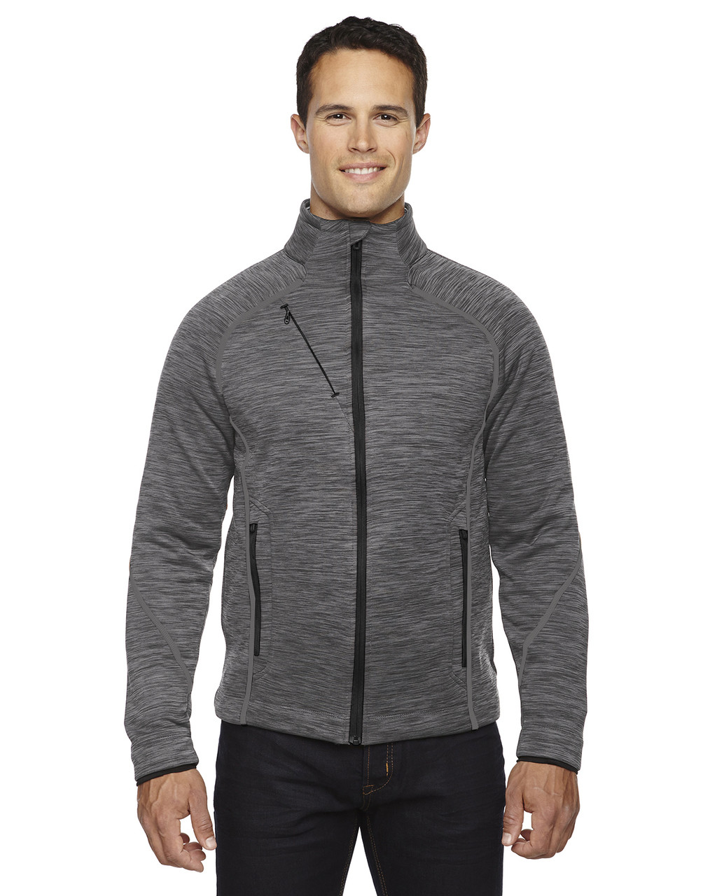 Carbon -  88697 North End Sport Flux Melange Bonded Fleece Jacket