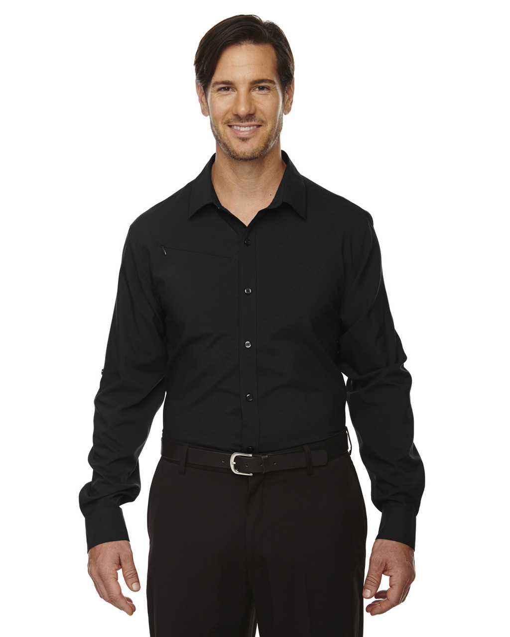 Black - 88804 North End Performance Shirt with Roll-Up Sleeves Shirt