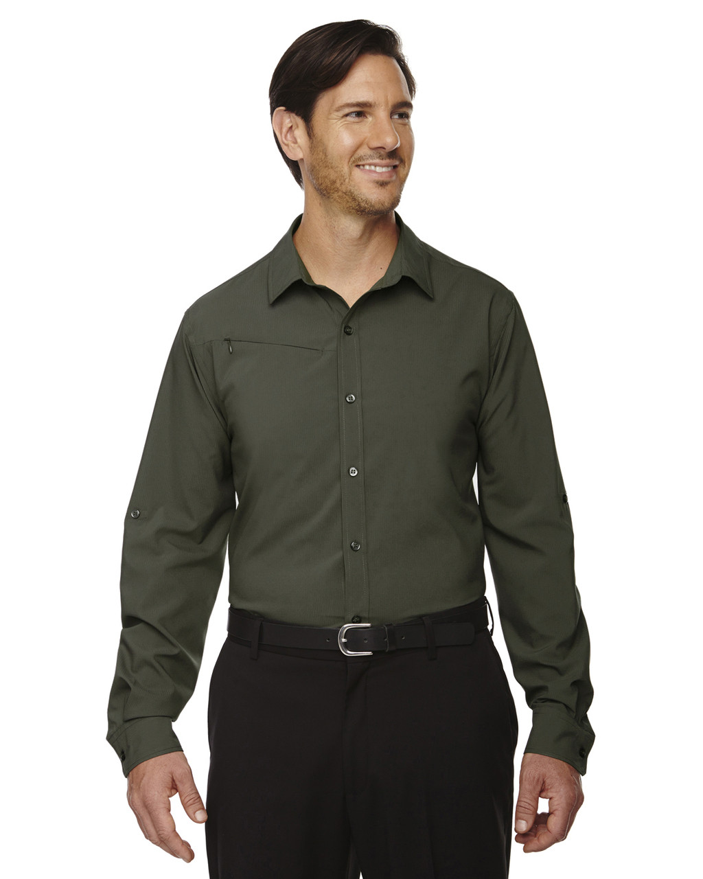 Oakmoss - 88804 North End Performance Shirt with Roll-Up Sleeves Shirt