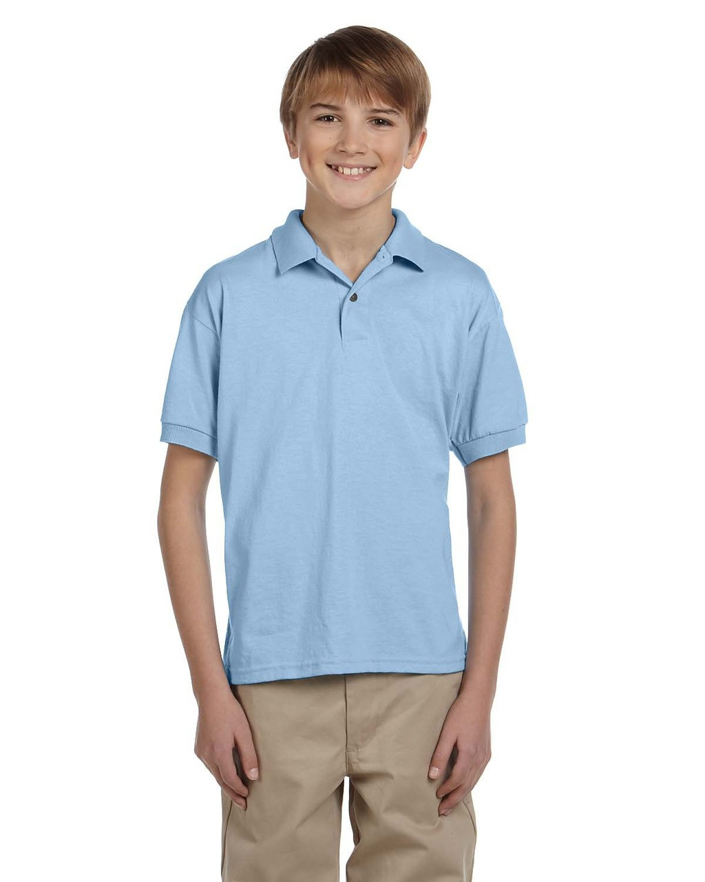 Light Blue - G880B Gildan DryBlend® Youth 50/50 Jersey Polo Shirt | Blankclothing.ca