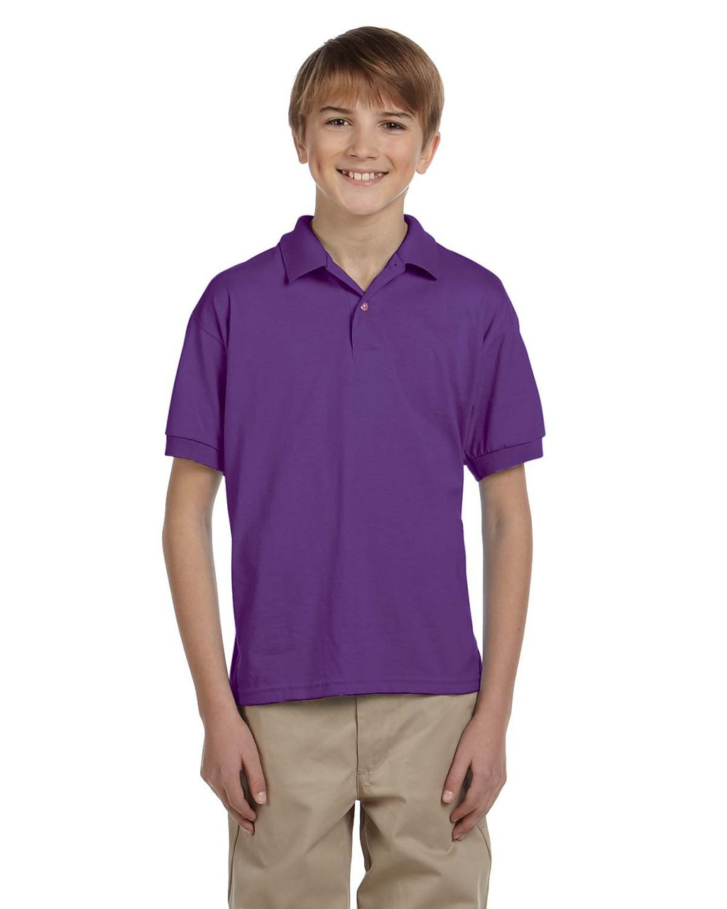 Purple - G880B Gildan DryBlend® Youth 50/50 Jersey Polo Shirt | Blankclothing.ca