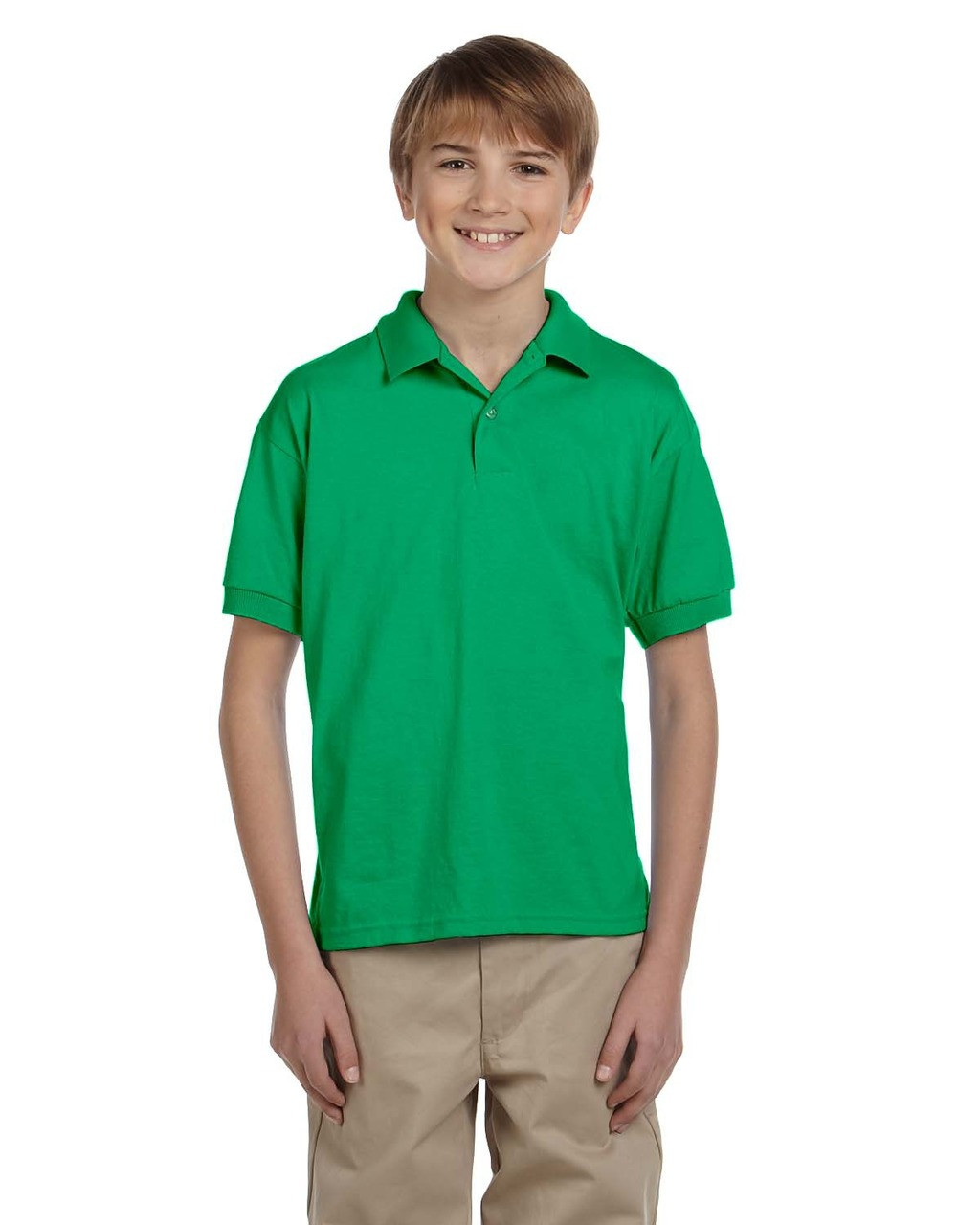 Irish Green - G880B Gildan DryBlend® Youth 50/50 Jersey Polo Shirt | Blankclothing.ca