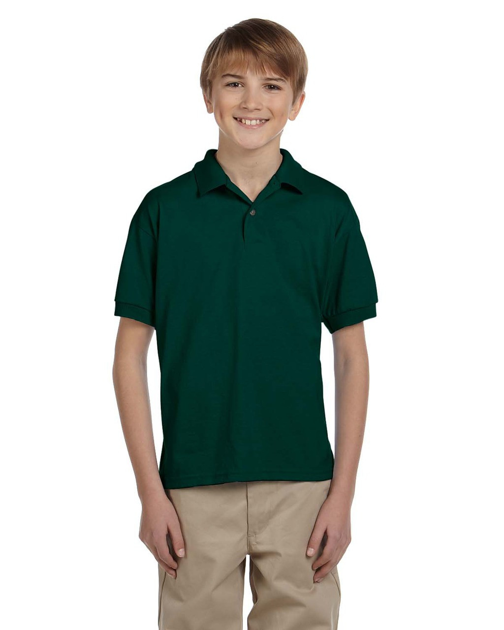Forest Green - G880B Gildan DryBlend® Youth 50/50 Jersey Polo Shirt | Blankclothing.ca