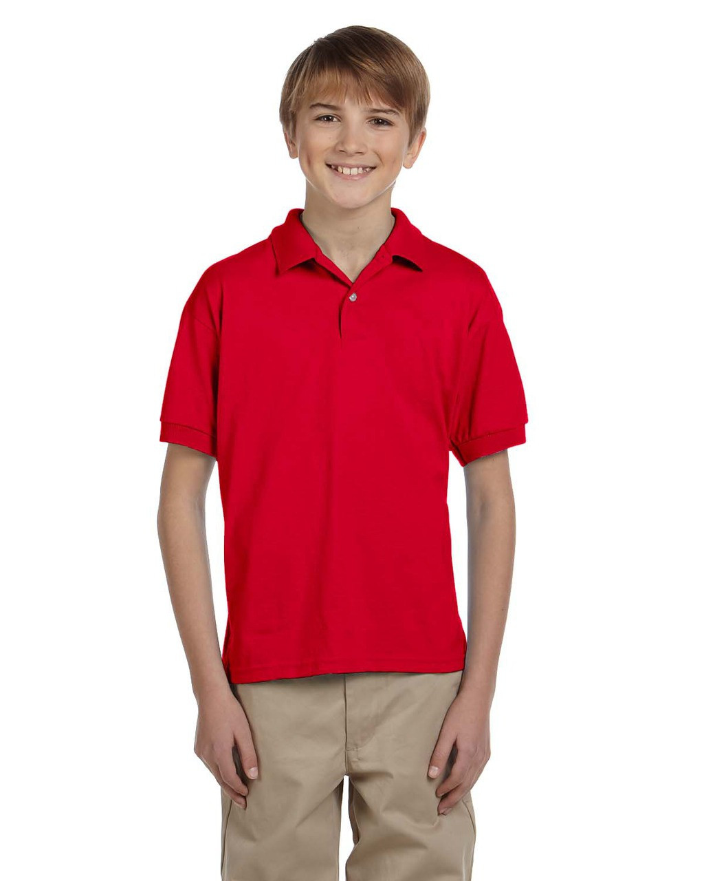 Red - G880B Gildan DryBlend® Youth 50/50 Jersey Polo Shirt | Blankclothing.ca