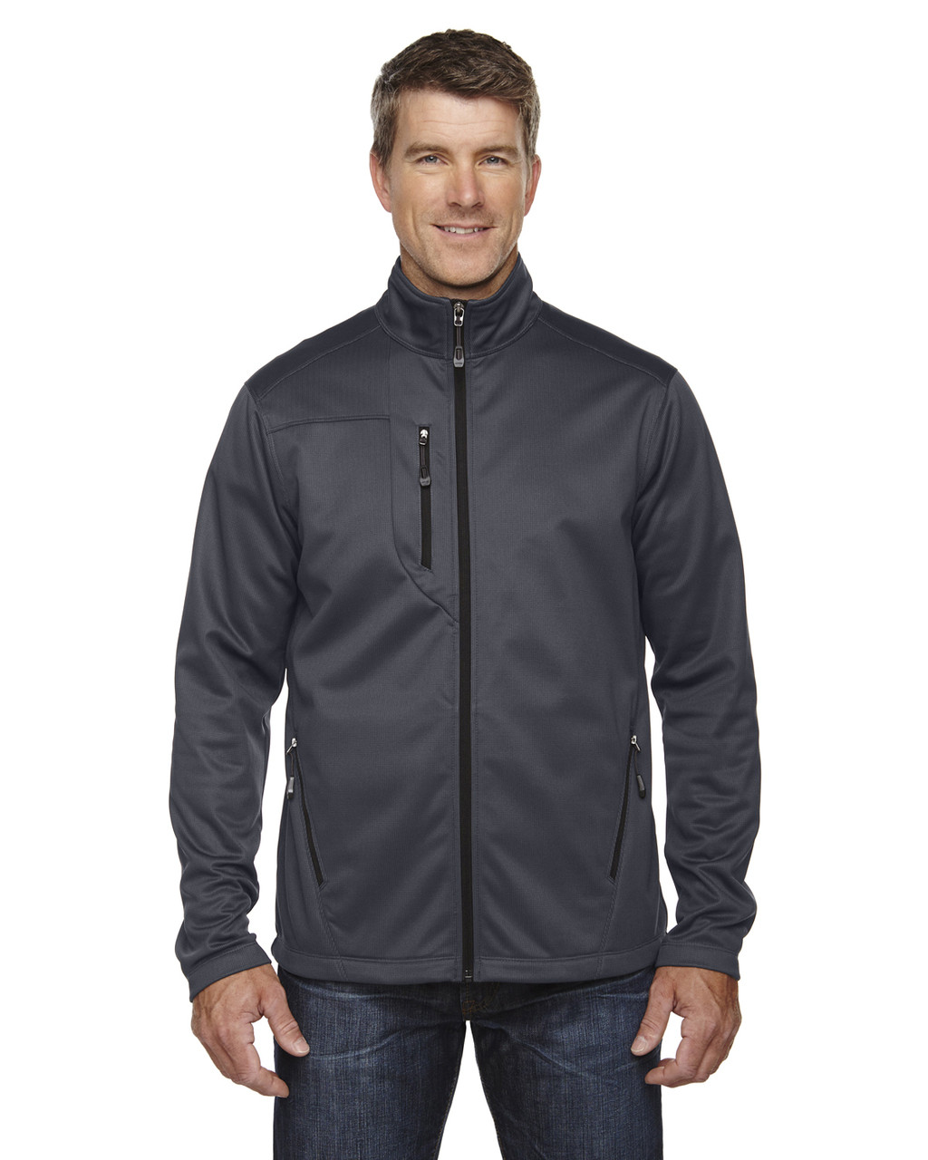 Carbon - 88213 North End Men's Trace Printed Fleece Jacket | Blankclothing.ca