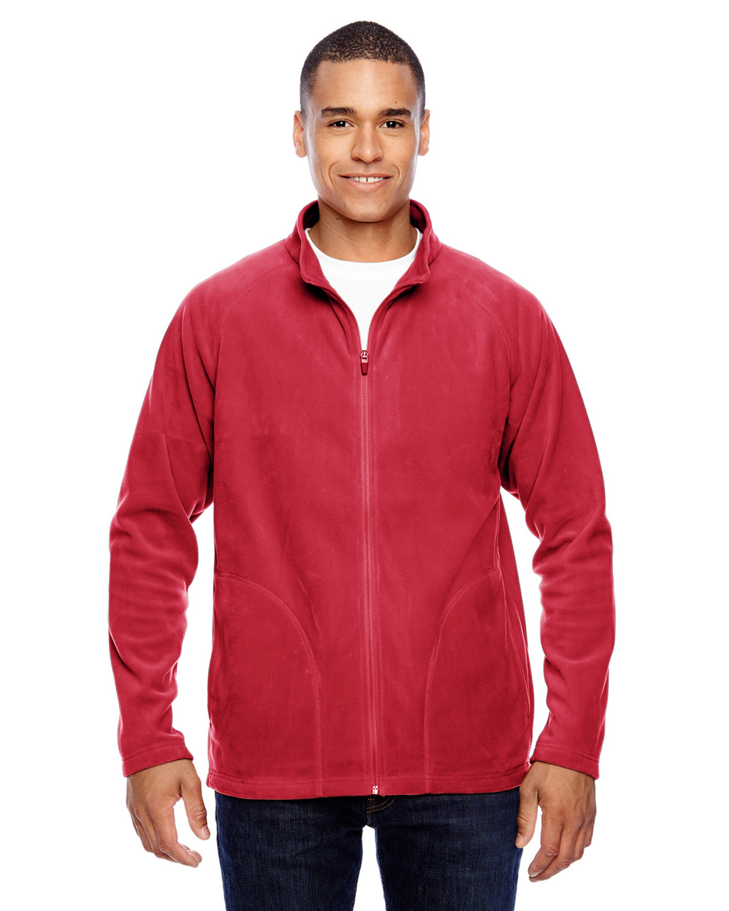 Red - TT90 Team 365 Men's Campus Microfleece Jacket | BlankClothing.ca