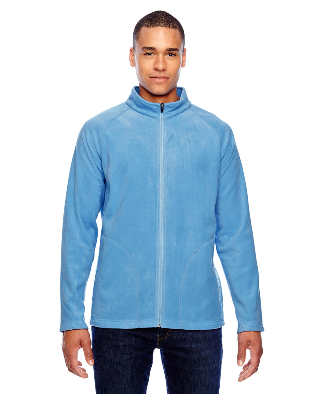 Light Blue - TT90 Team 365 Men's Campus Microfleece Jacket | BlankClothing.ca