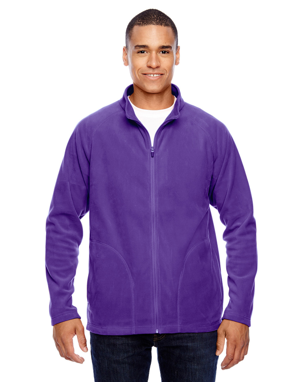Purple - TT90 Team 365 Men's Campus Microfleece Jacket | BlankClothing.ca