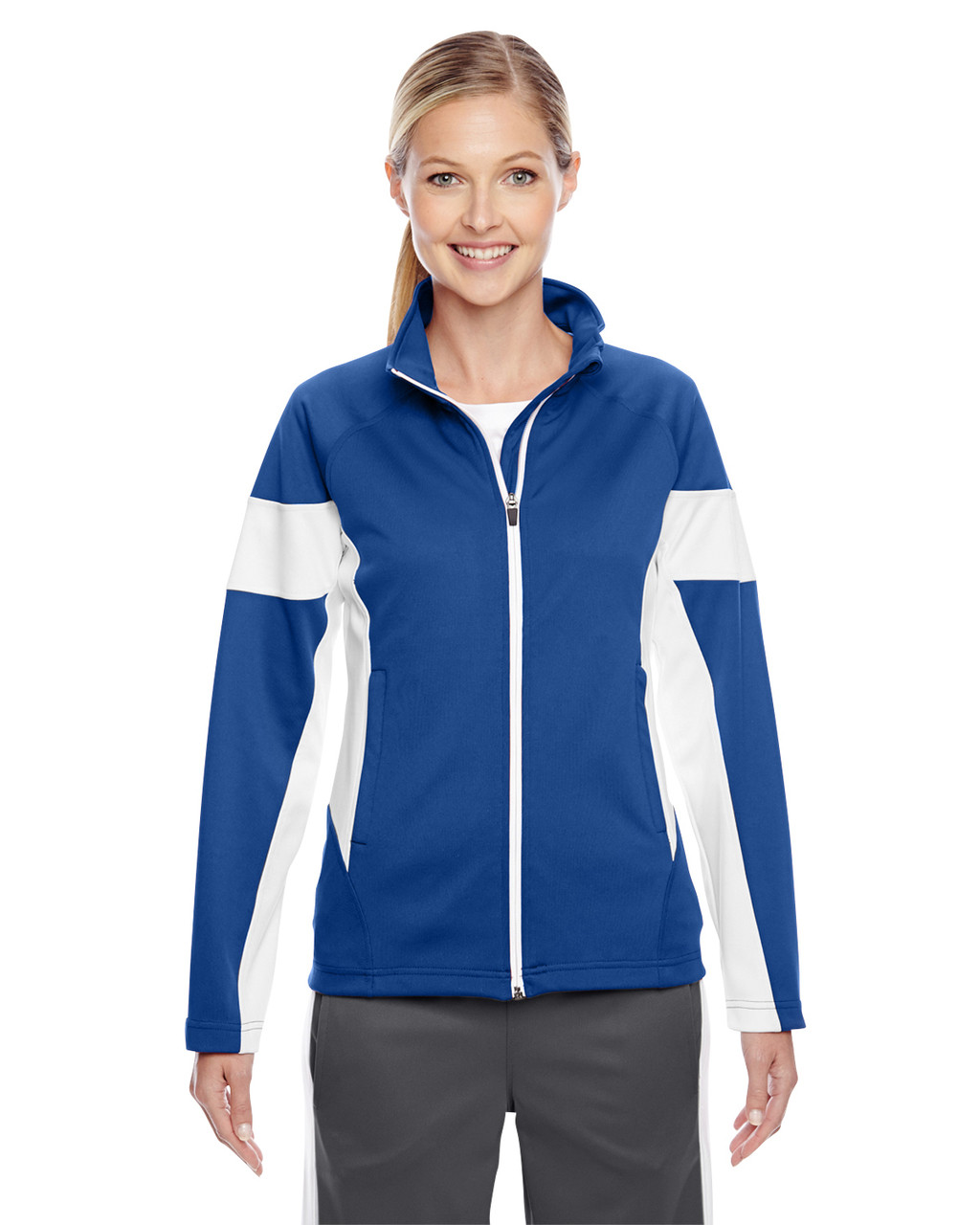 Royal/White - TT34W Team 365 Ladies' Elite Performance Full-Zip Jacket