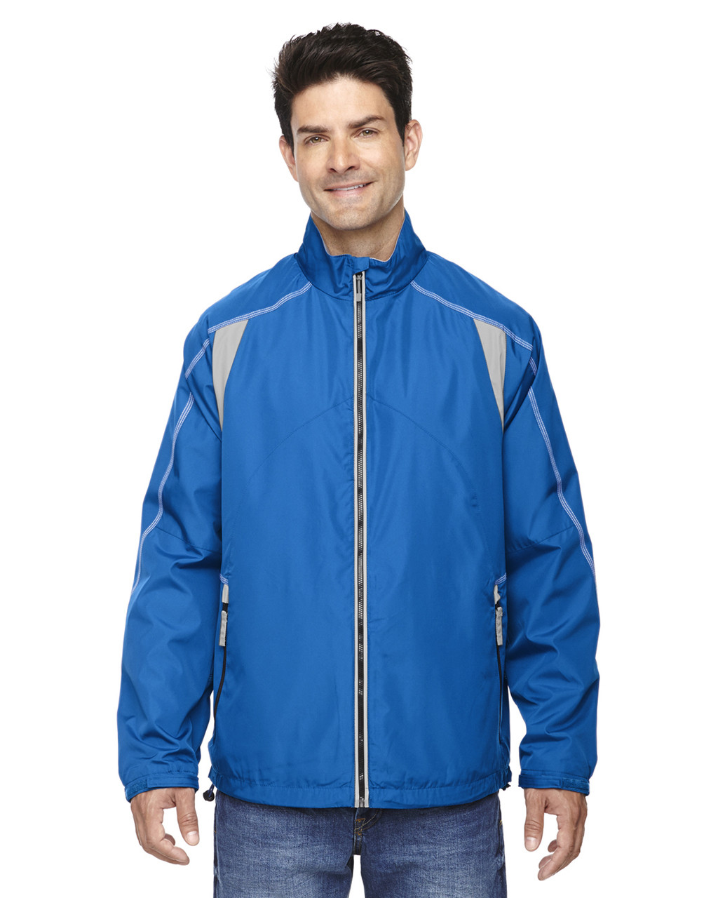 Nautical Blue - 88155 North End Men's Lightweight Colour-Block Jacket | Blankclothing.ca
