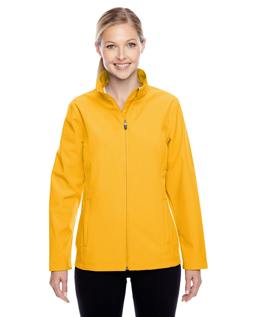 Athletic Gold - TT80W Team 365 Leader Soft Shell Jacket | BlankClothing.ca