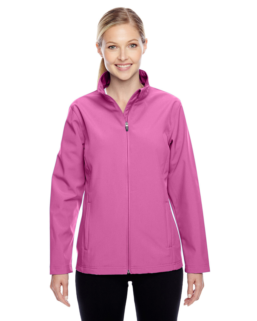 Charity Pink - TT80W Team 365 Leader Soft Shell Jacket | BlankClothing.ca