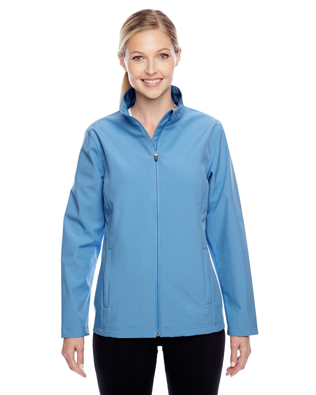 Light Blue - TT80W Team 365 Leader Soft Shell Jacket | BlankClothing.ca