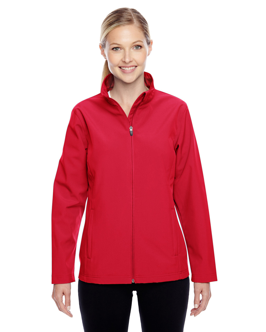 Red - TT80W Team 365 Leader Soft Shell Jacket | BlankClothing.ca