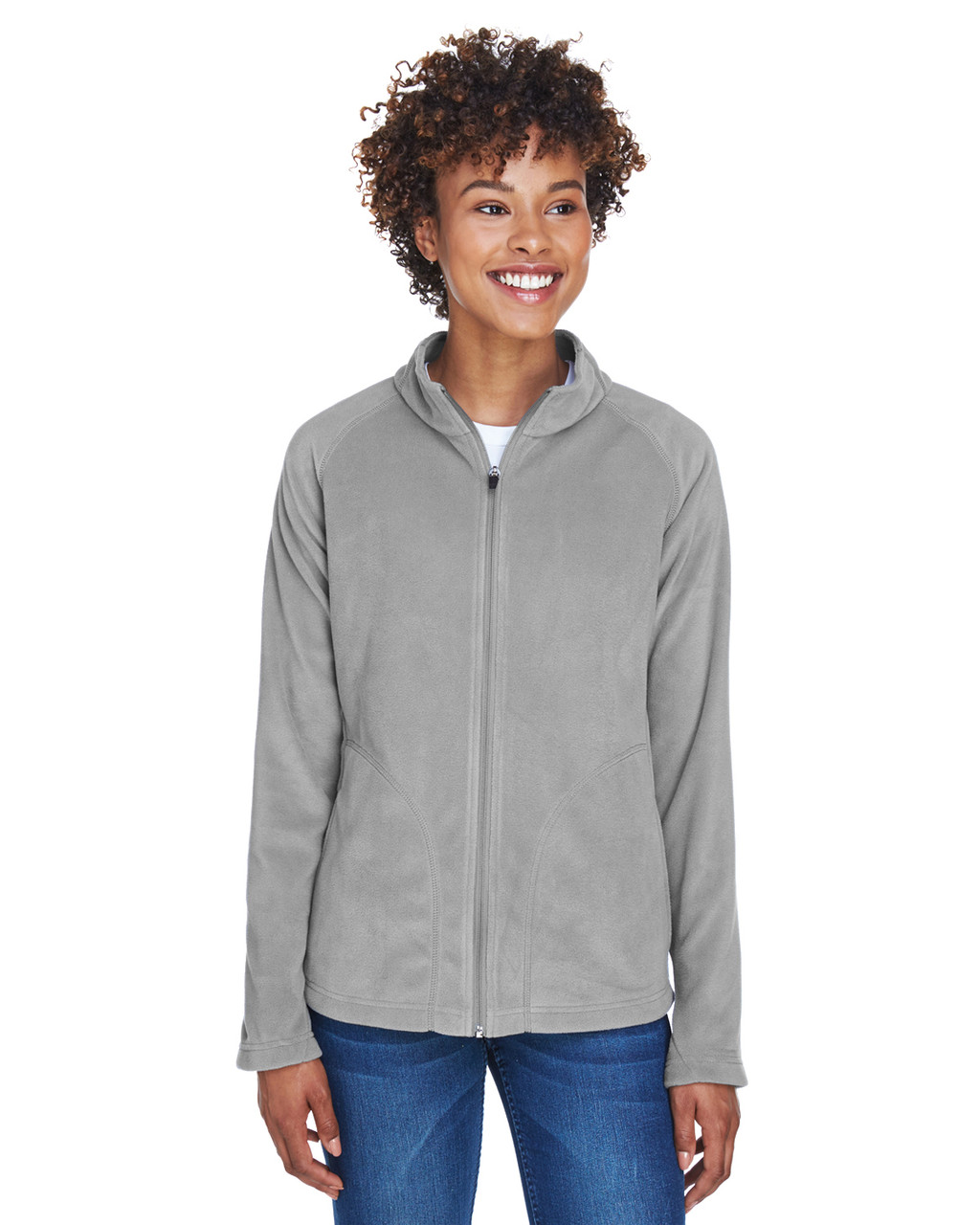 Sport Graphite - TT90W Team 365 Ladies' Campus Microfleece Jacket | BlankClothing.ca