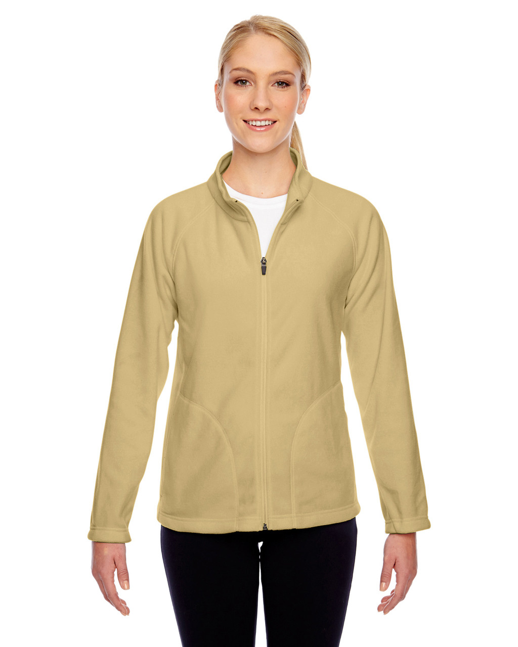 Vegas Gold - TT90W Team 365 Ladies' Campus Microfleece Jacket | BlankClothing.ca