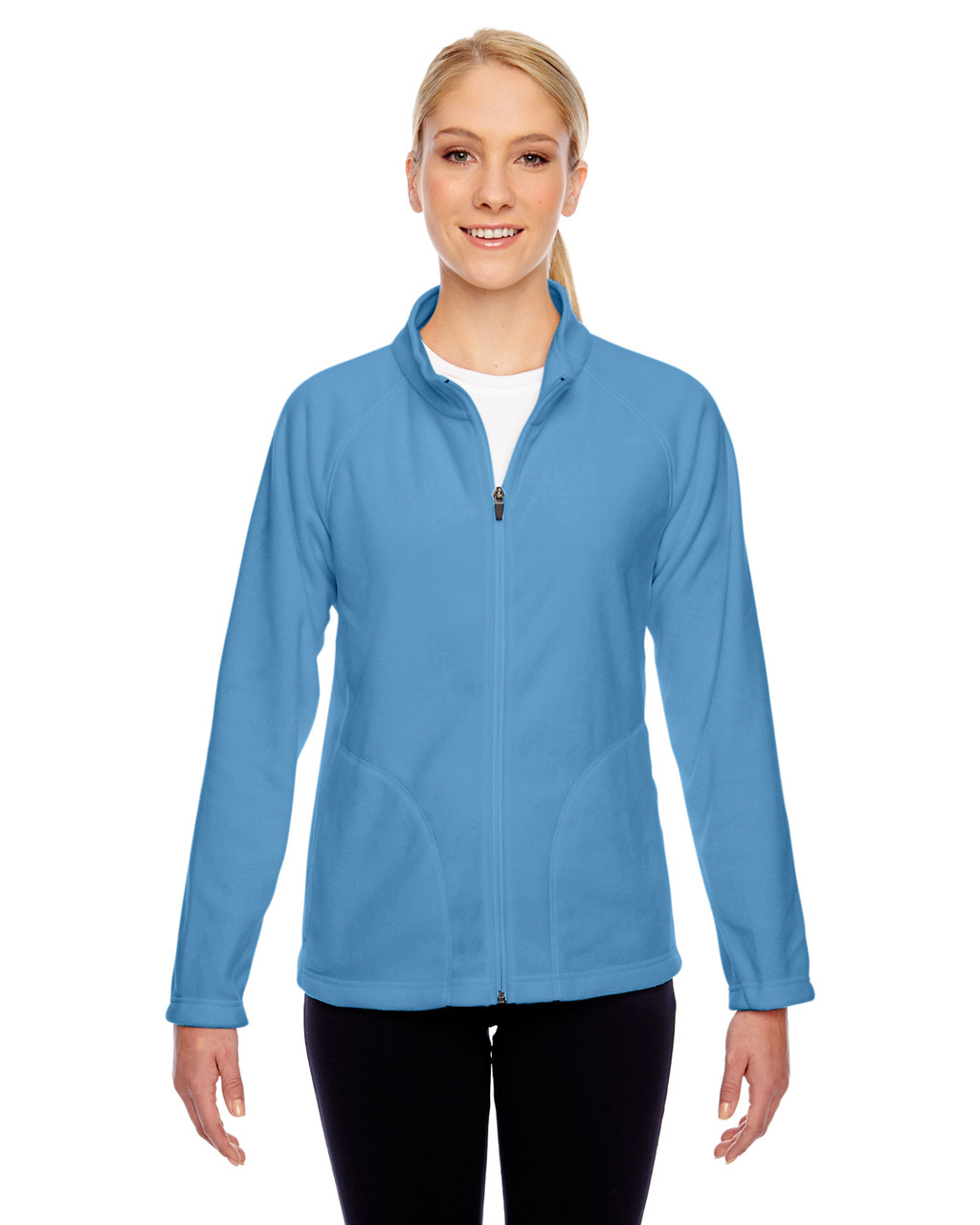 Light Blue - TT90W Team 365 Ladies' Campus Microfleece Jacket | BlankClothing.ca