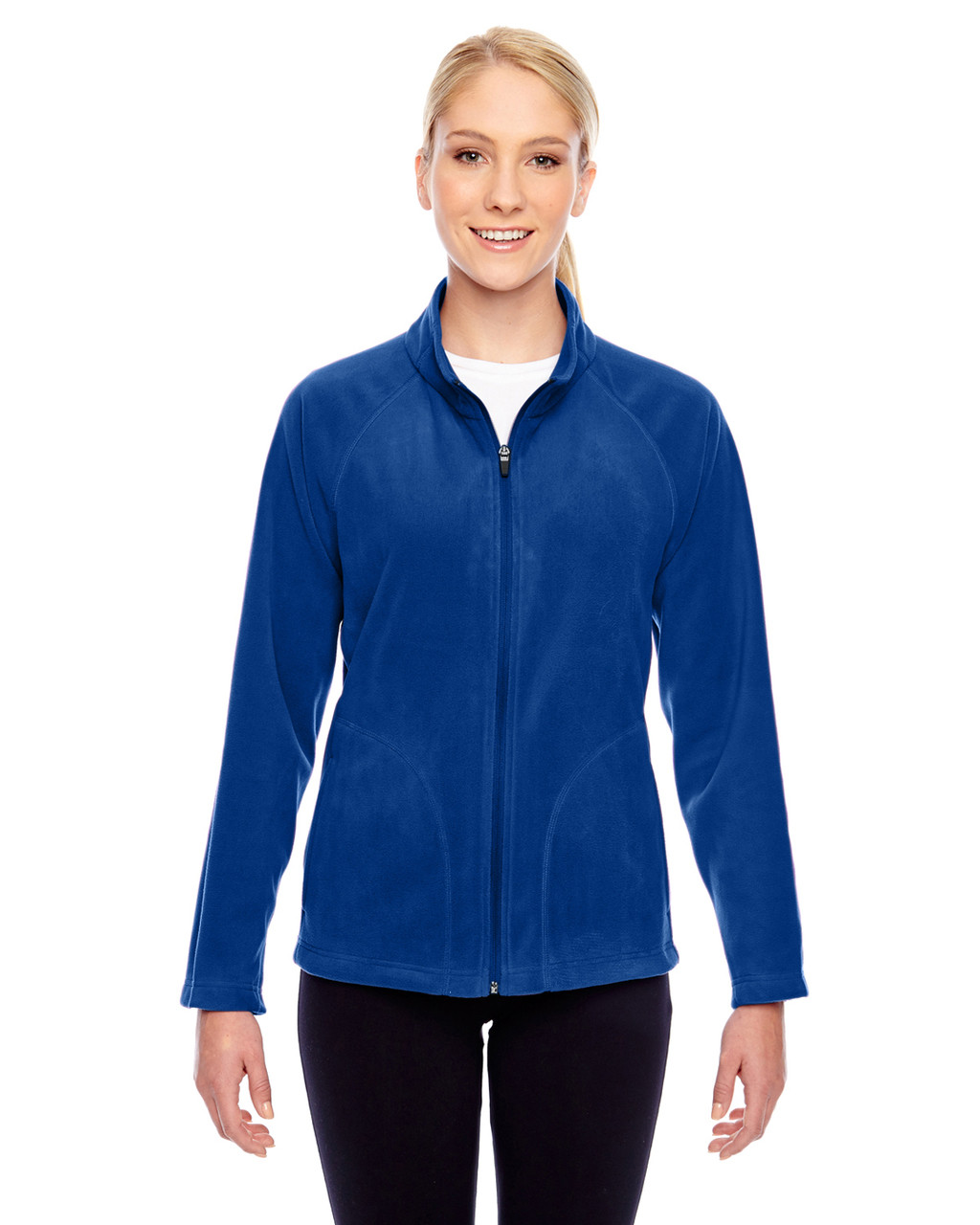 Royal - TT90W Team 365 Ladies' Campus Microfleece Jacket | BlankClothing.ca
